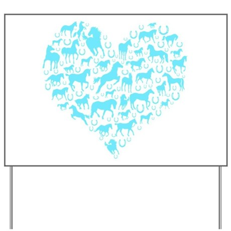 Horse Heart Art Yard Sign