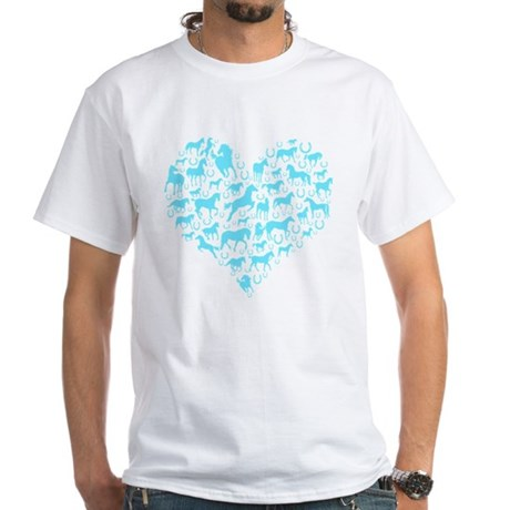 Horse Heart Art White T-Shirt