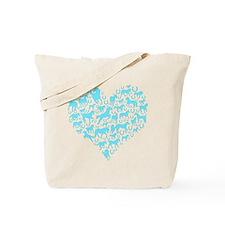 Horse Heart Art Tote Bag