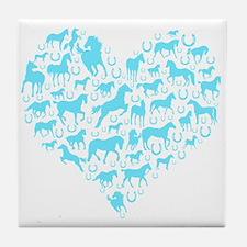 Horse Heart Art Tile Coaster