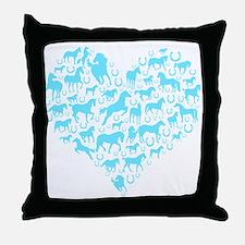 Horse Heart Art Throw Pillow