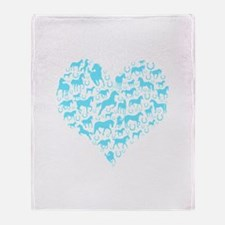 Horse Heart Art Throw Blanket
