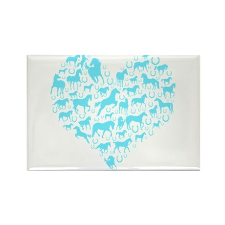 Horse Heart Art Rectangle Magnet (100 pack)