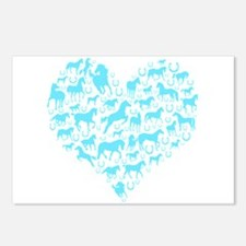 Horse Heart Art Postcards (Package of 8)
