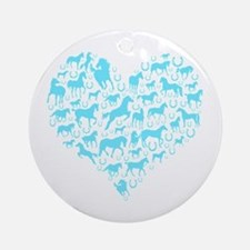 Horse Heart Art Ornament (Round)