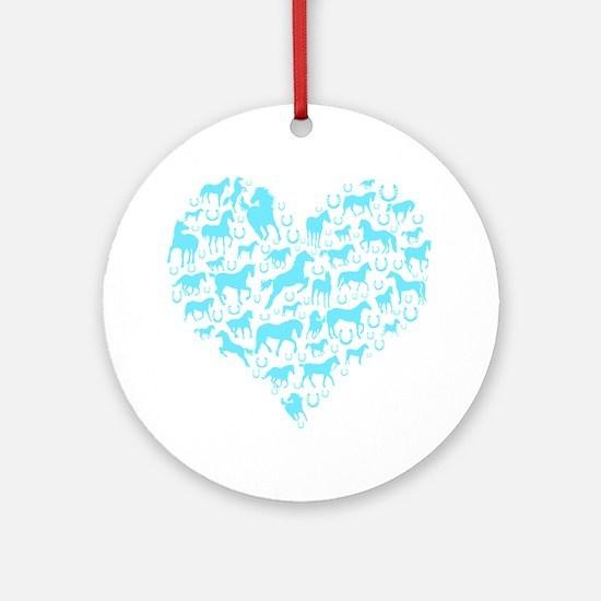 Horse Heart Art Ornament (Round)