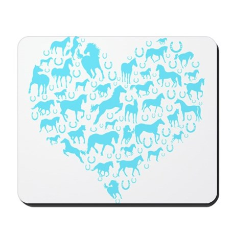 Horse Heart Art Mousepad
