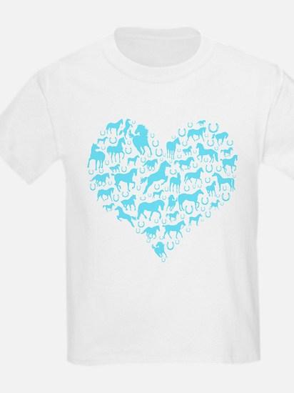 Horse Heart Art T-Shirt