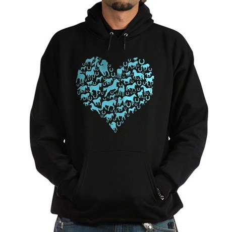Horse Heart Art Hoodie (dark)