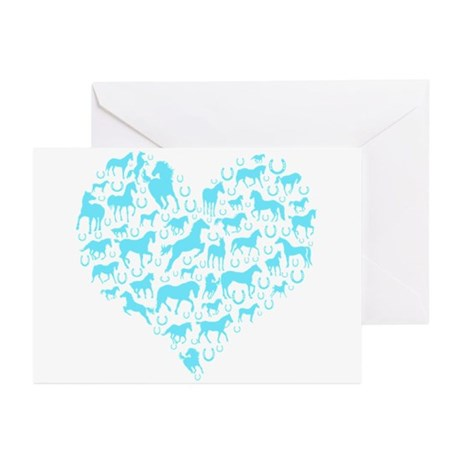 Horse Heart Art Greeting Cards (Pk of 10)