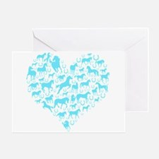 Horse Heart Art Greeting Card