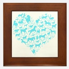 Horse Heart Art Framed Tile