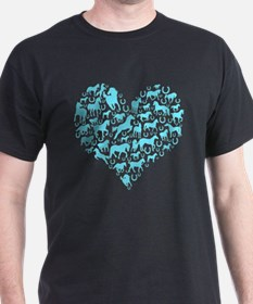 Horse Heart Art T-Shirt
