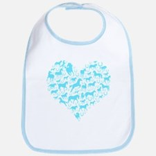 Horse Heart Art Bib