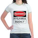 WARNING Pysanka Addict Jr. Ringer T-Shirt