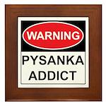 WARNING Pysanka Addict Framed Tile