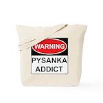 WARNING Pysanka Addict Tote Bag