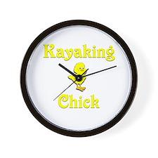 Kayaking Chick Wall Clock