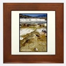 Yellowstone Mammoth Hot Springs Framed Tile