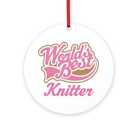 Knitter Ornament (Round)