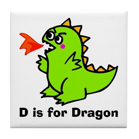 D is for Dragon! Tile Coaster