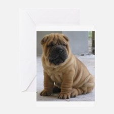LaurensSharpei Greeting Cards