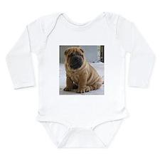 Funny Shar pei Long Sleeve Infant Bodysuit