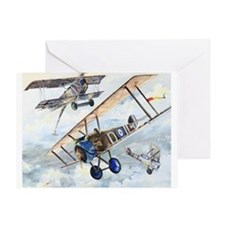 WWI RFC RAF Sopwith Camel airplane Greeting Card