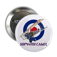 "World War I RAF Sopwith Camel 2.25"" Button"