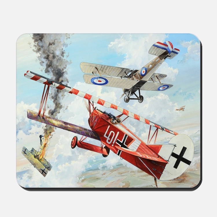World War I Dogfight Fokker airplane Mousepad