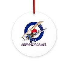 WWI Sopwith Camel airplane Ornament (Round)