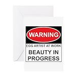 WARNING Artist@Work Greeting Card