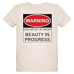 WARNING Artist@Work Organic Kids T-Shirt