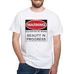 WARNING Artist@Work White T-Shirt