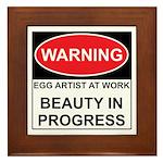 WARNING Artist@Work Framed Tile