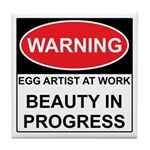 WARNING Artist@Work Tile Coaster