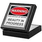 WARNING Artist@Work Keepsake Box
