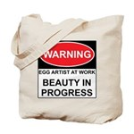 WARNING Artist@Work Tote Bag