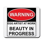 WARNING Artist@Work Mousepad
