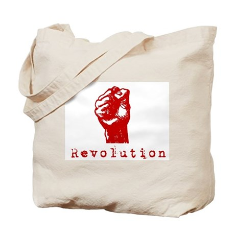 Communist Revolution Fist Tote Bag
