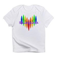 Rainbow Kayaker's Heart Infant T-Shirt
