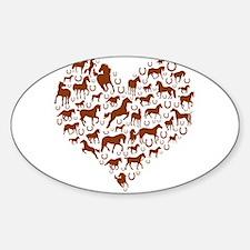 Horses & Ponies Heart Decal