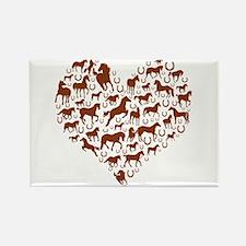 Horses & Ponies Heart Rectangle Magnet