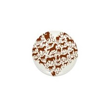 Horses & Ponies Heart Mini Button