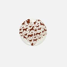Horses & Ponies Heart Mini Button