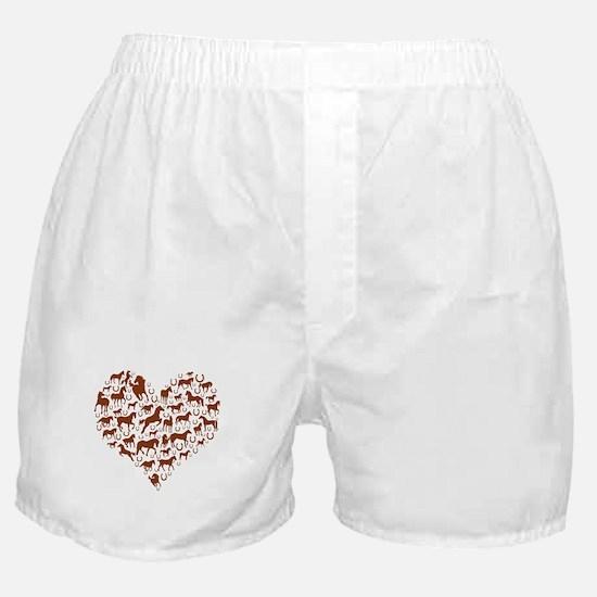 Horses & Ponies Heart Boxer Shorts
