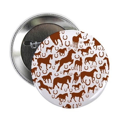 "Horses & Ponies Heart 2.25"" Button (100 pack)"