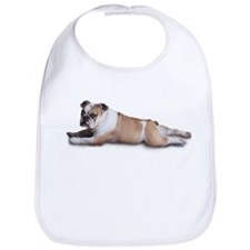 Lounging Bulldog Bib
