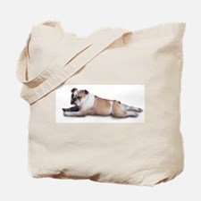 Lounging Bulldog Tote Bag