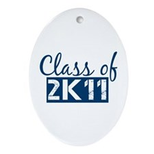 Class of 2011 (2K11) Ornament (Oval)